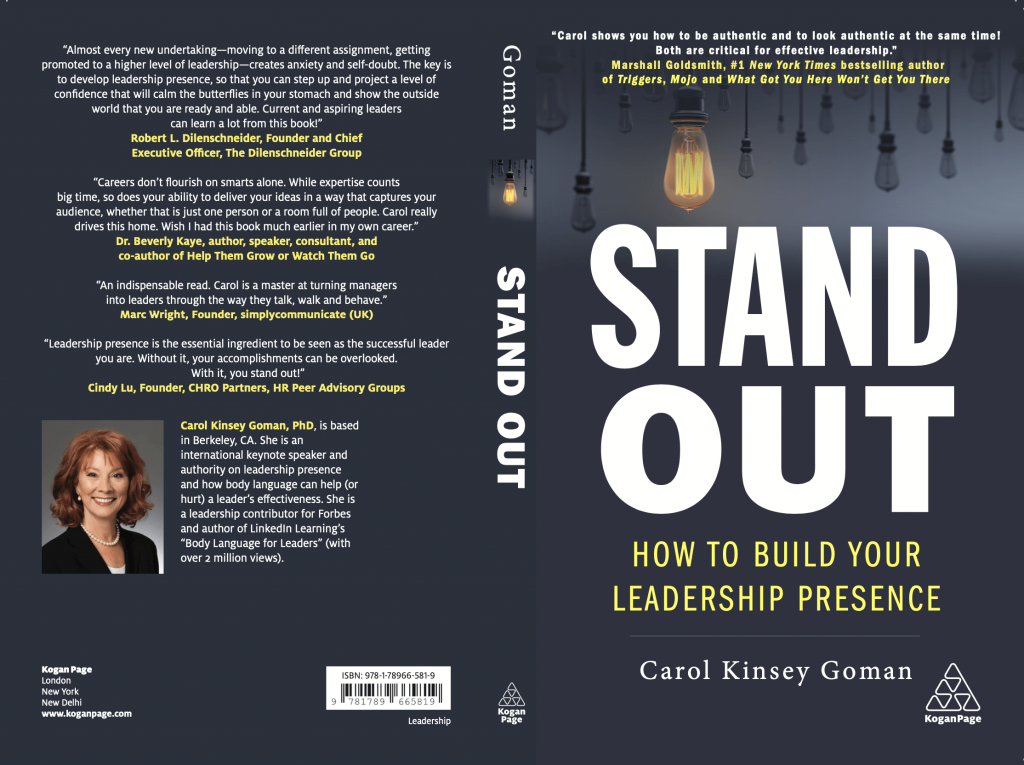 Standout Book-Cover ~ Carol Kinsey Gomen